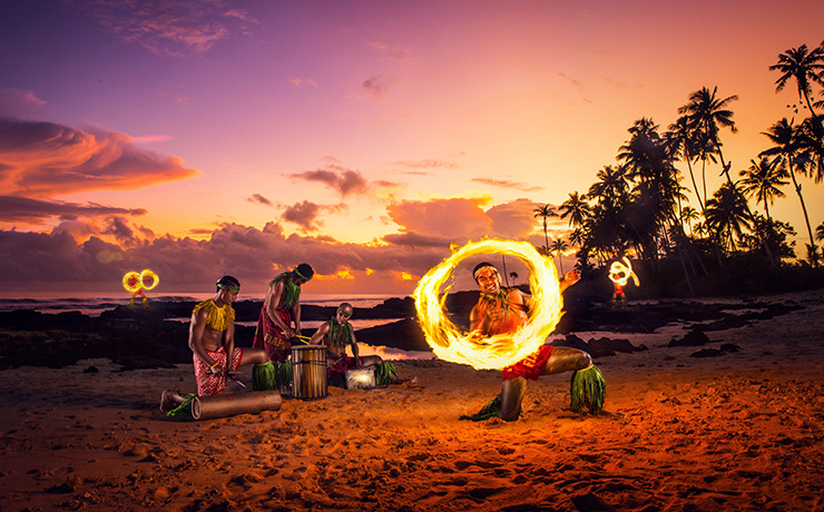 Return to Paradise Resort & Spa - Fire Dance at Sunset
