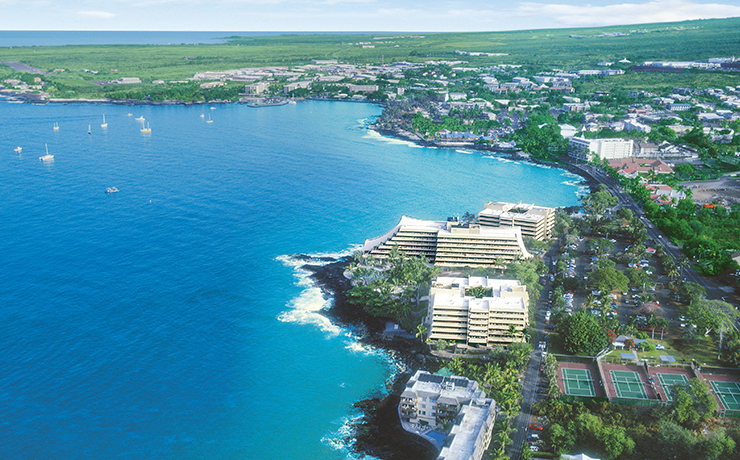 Royal Kona Resort - Aerial View